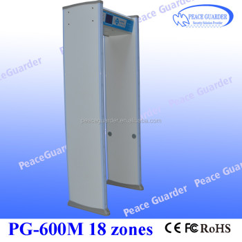 Bilingual 18zone walk-through metal detector with big LCD screen for security check PG600M