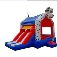2 in1 Dalmatian Bouncy Castle Inflatable Dog Slide