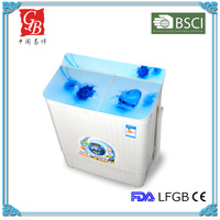Semi-automatic twin tub plastic mini washing machine with dryer