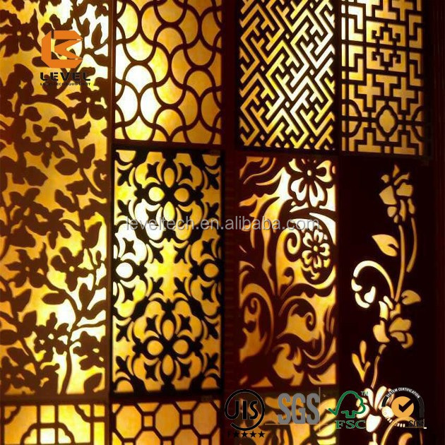 Different Designs Wood MDF Grille Panels Screen Divider Decoration Panels