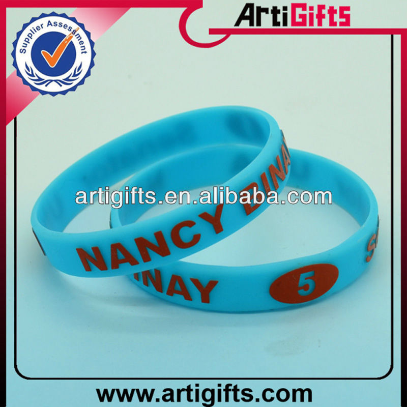 Custom design name bracelets silicone