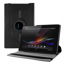 PU Leather Rotatable Folio Folding Stand Case Flip Cover for Sony Xperia Tablet Z2