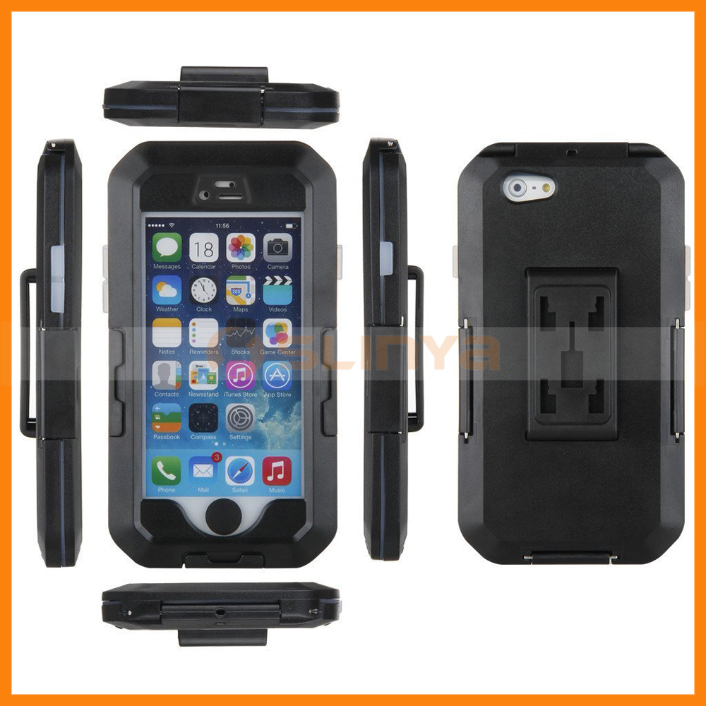360 Degree Rotating Home Button Operable Handlebar Bicycle Waterproof Case For iPhone 6 Plus