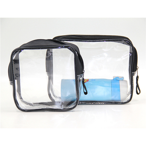 wholesale professional custom small clear pvc makeup cosmetic case bag
