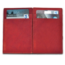 pu leather magic wallet with 4 card pockets