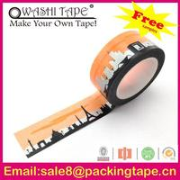 custom printed decorative printing waterproof intertape blue uv resistant painters masking tape for gift
