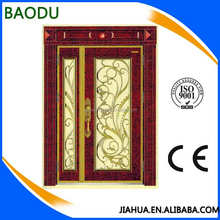 alibaba china latested design luxury enamel door with high quality entry door glass inserts