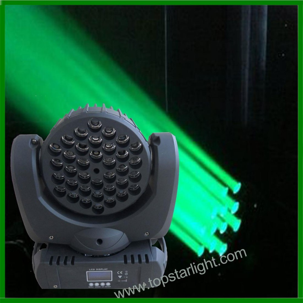 cheap disco light moving head chinese 36*<strong>3w</strong> RGBW <strong>LED</strong> beam wash moving head stage light
