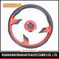 Good quality black and red steering wheel