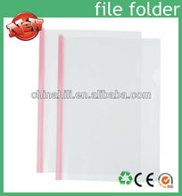 China Manufacture custom printed a4 plastic clear file folder