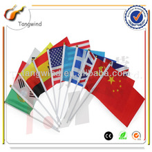 TW4041 Eco-friendly Promotion Printed PE/Paper/Non-woven/Fabric Customized South Korean Hand Flag