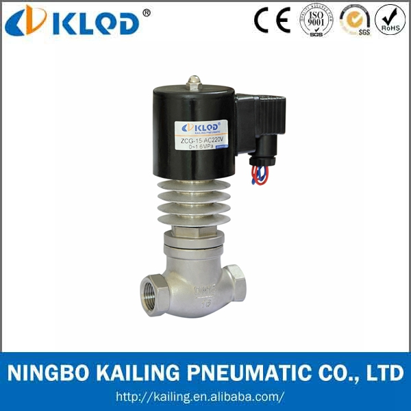 ZCG SERIES 2 INCH HIGH TEMPERATURE SOLENOID WATER VALVE WITH STAINLESS STEEL