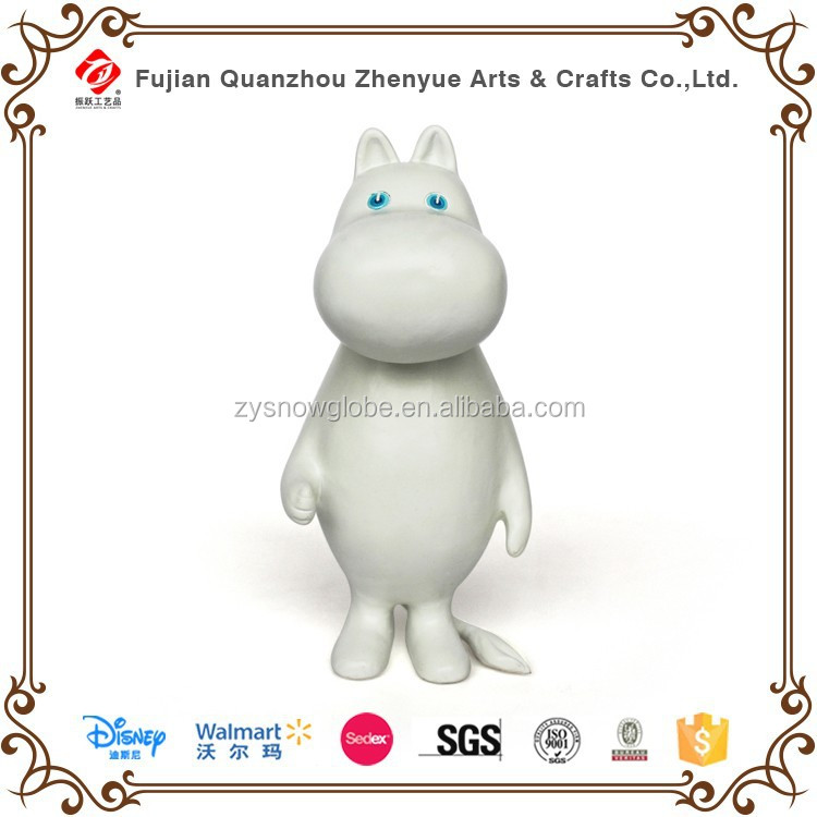 Lovely Resin Cartoon Character Hippo Statue