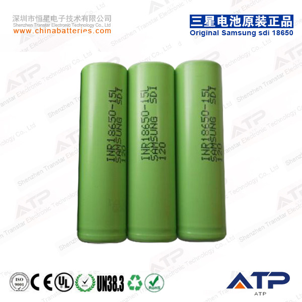 High discharge rate Samsung 15L sdi 18650 INR18650-15L 1500mah rechargeable battery cell / 18650 Samsung 15L