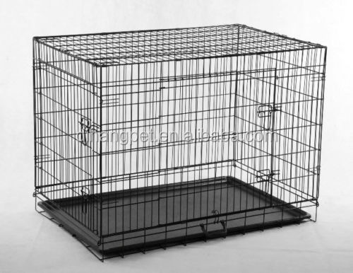 cheap Pet Folding Dog Cat Crate Cage Kennel with ABS Pan