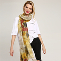 Ladies fashion flower scarf soft hand feeling scarves