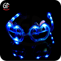 High Quality Cool Funny Pumpkin Shaped Flashing Led Sunglasses For Kids