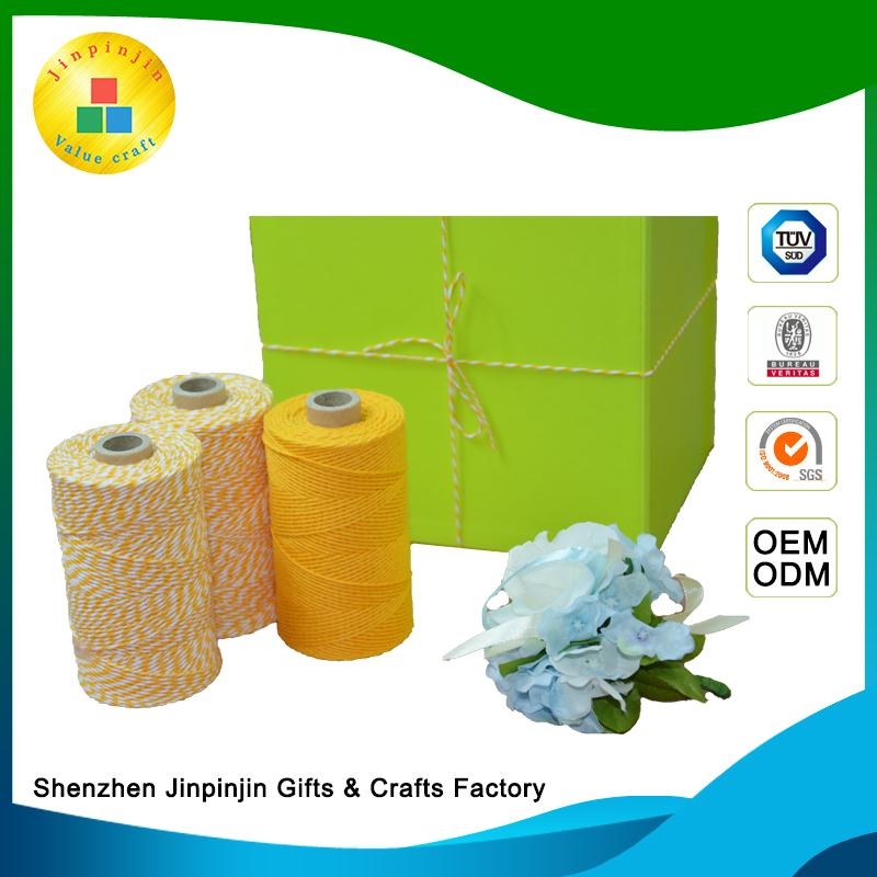packaging 100% bleached paper bag with cotton rope handle cotton rope