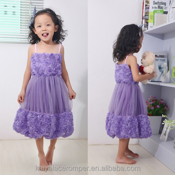 new style simple fashion purple wholesale baby girl dress christening gowns for girls