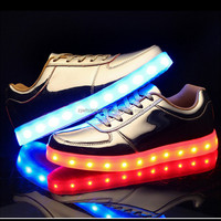 Wholesale china woman s shoes flat Fashion cool led shoes light up shoes for unisex