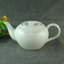 whole sale cheap price plain porcelain white ceramic teapot