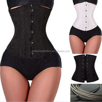 Plus Size 28 Spiral Steel Boned Waist Training Underbust Corset Slimming Corsets and Bustiers Sexy Black White Top Dress
