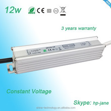 Waterproof constant voltage 24v 12w IP67 LED driver single output led power supply