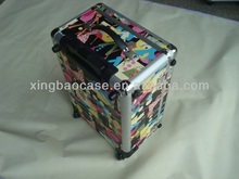 Nail polish trolley case,upright trolley case with pocket,polo trolley luggage