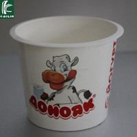 4oz disposable frozen yogurt paper cup ice cream packaging
