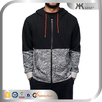 wholesale union color block hoody men & sweatshirts, pullover & hoodies factory custom riptide script black zip up hoodie