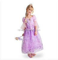 Fantasia Vestidos,2015 Children Kids Cosplay Dresses Rapunzel Costume Princess Wear Perform Clothes HOT Sale girls dress