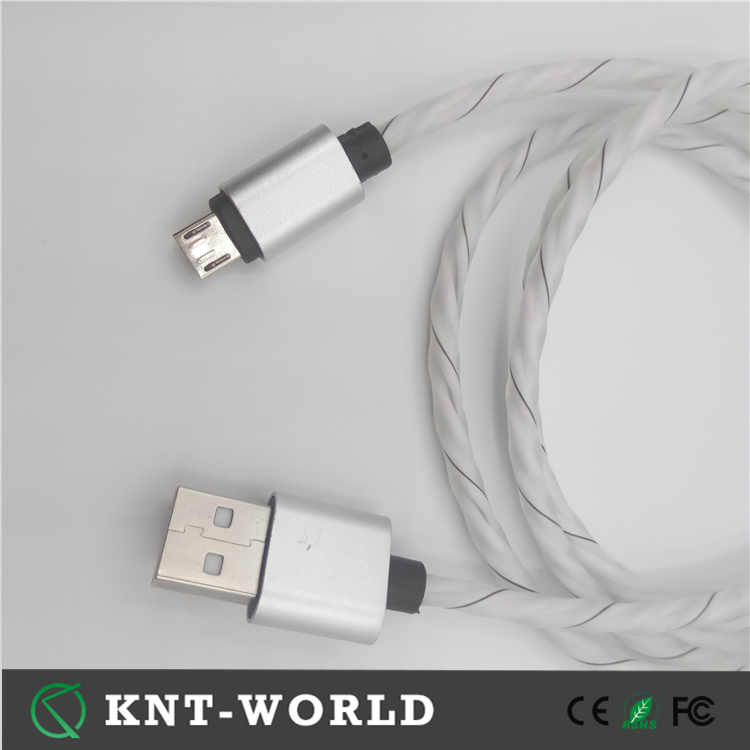 1m soft usb cable charging cable for oppo cellphone with power bank