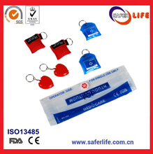 Disposable artificial respiration training portable mask kits colored first aid CPR face shield breathing barrier