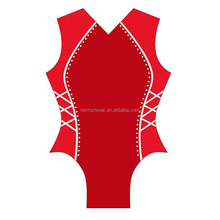 Rhinestone child Leotards Gymnastics red leotard for girls