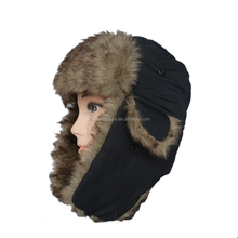 winter black knitted warm camouflage top hat