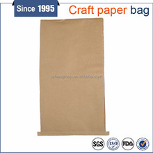 brown craft paper air tight seal-ability bag twist retention sack with recyclable material