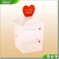 Accept Custom Order Top fashional heart shape clear plastic candy box for gift