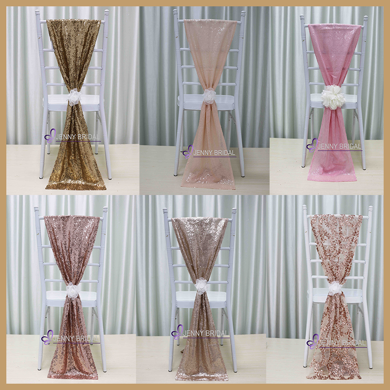 C385 wholesale cheap multicoloured sequin chair cover chair sashes for <strong>wedding</strong>