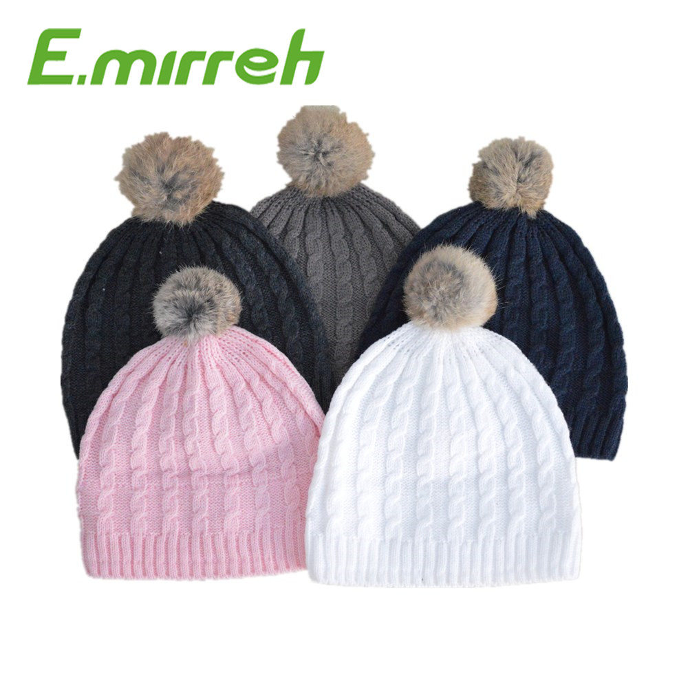 2016 baby colors Kids Crochet Hat Handmade 100 % Acrylic imitation cashmere Children Knitted Hat