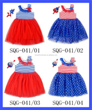 Red Tulle Dress For 3 Year Old Girls Birthday Party Dresses Wholesale 4 of July Holiday Summer Party One Piece
