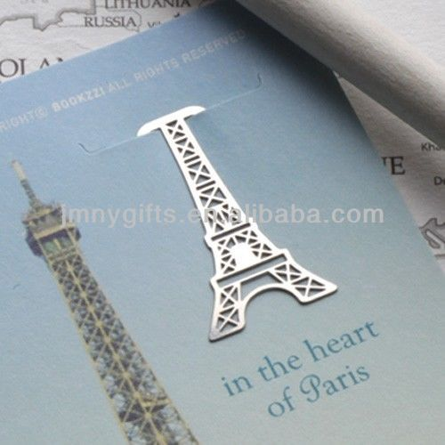 Mini France Paris Eiffel Tower Metal Travel Souvenir bookmark