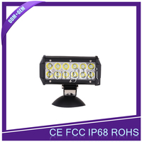 "7 inch 36W led work light 12 volt led light bar 7"" double row lightbar led straight led light"