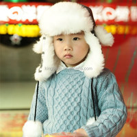 Kids Earmuffs Lei Feng Hat Ear Cap Snowflakes Knitting Warm Trapper Hat child Russian Hat Sport Outdoor Ear Flaps Bomber Caps