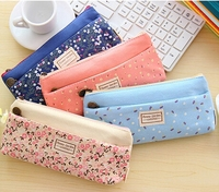 Floral Canvas Pencil Bags/Student Pencil Case/Promotional Gift Stationery Bag