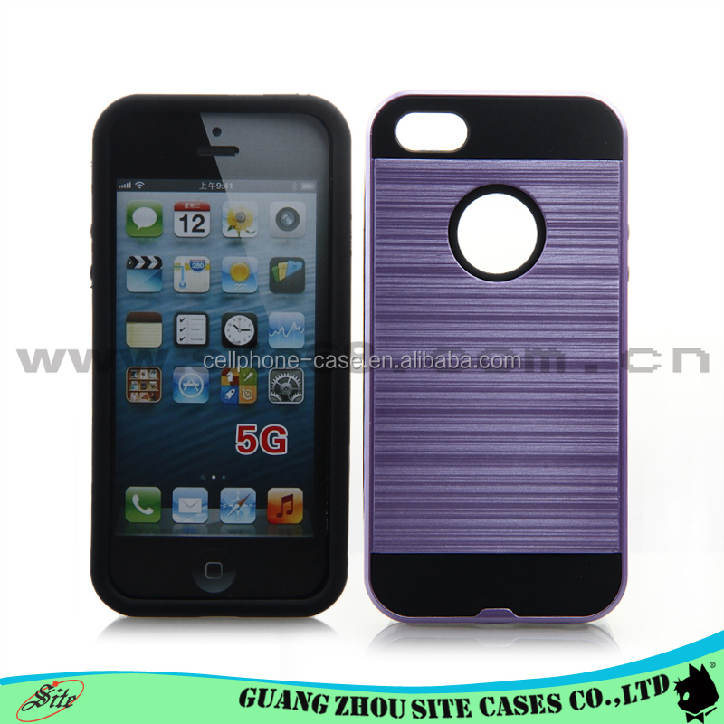 Guangzhou factory price for iphone 5 cases and covers fancy tpu pc hair line cell phone case for iphone 5 5se