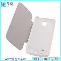PU leather case cover back up 5200mah for samsung galaxy s4 power bank