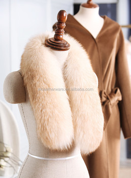 Women Fur Infinity Collar Scarf for Winter Coat