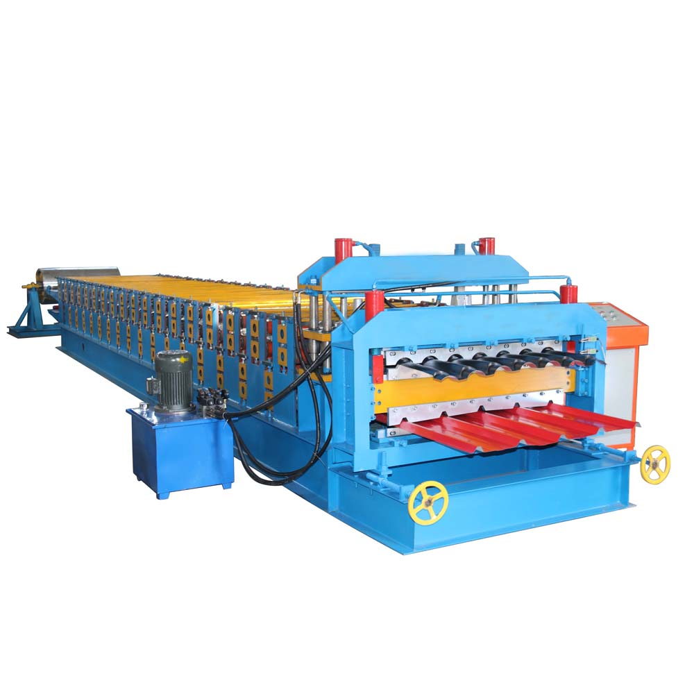 Construction roof double layer tile making machine