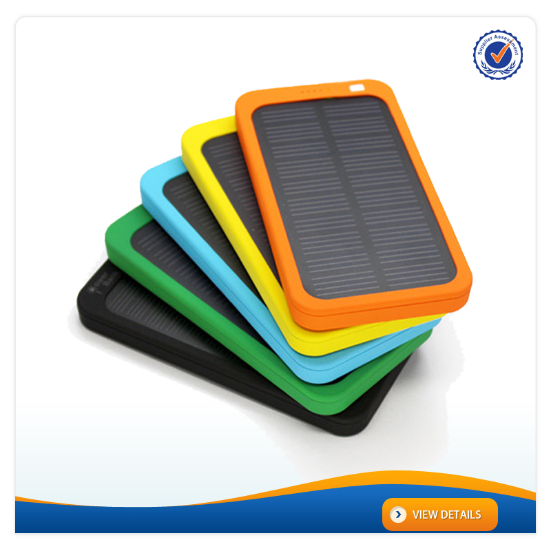 AWC707 4000mAh ABS colorful solar charger with rohs 5800mah power bank for samsung