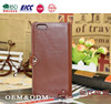 Brown phone case for iPhone 6 Plus Man's Mobile case